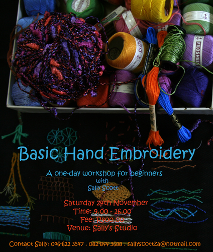A new embroidery workshop